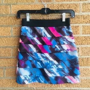 * Guess | Multi-colored Tiered Mini Skirt, sz XS